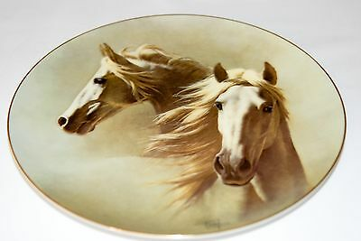 "Fred Stone Painting ""The Andalusian"" Plate Horse Racing Collectible 6043"