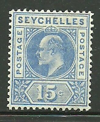 Album Treasures Seychelles Scott # 56  15c  Edward VII Mint Hinged