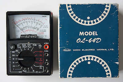 Hioki Analog Multimeter OL-64D 5000V DC 1000V AC in Box Made in Japan