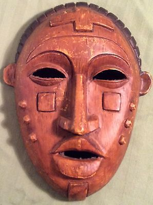 Tribal Art Mask Plastic Wall Hanging Plaque Decoration