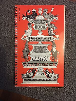 Old Possum's Book of Practical Cats 1989 Calendar ~ SIGNED by EDWARD GOREY First