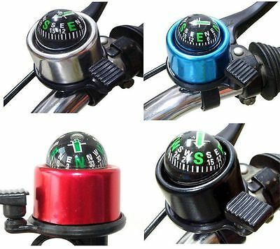 Portable Compass Metal Ring Handlebar Horn Bell Sound For Bike Bicycle Accessory