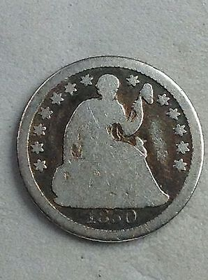 Seated Liberty Half Dime 1850 G Condition