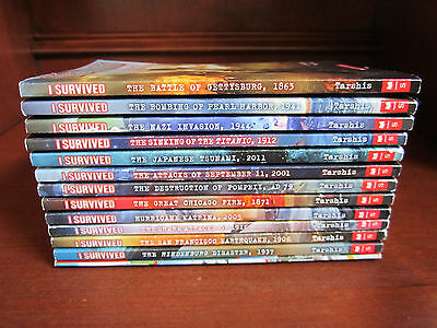 I SURVIVED Scholastic Children's Chapter Books by Lauren Tarshis Lot 13 History