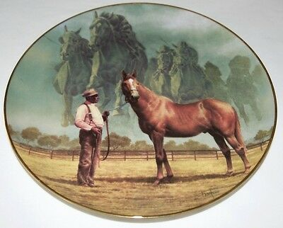 """Fred Stone Painting The Final Thunder """"Man O' War"""" Plate Collector China #2921"""