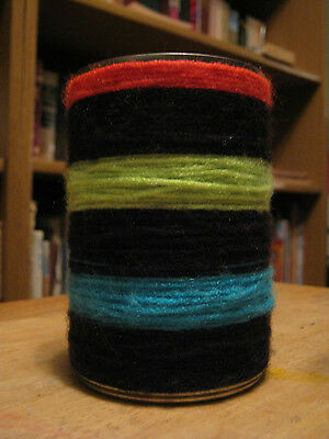 Upcycled Neon Yarn Wrapped Tin Can