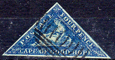 FAKE CAPE OF GOOD HOPE TRIANGLES, 4d, FORGERY OF PERKINS& BACON AND D.L.R.