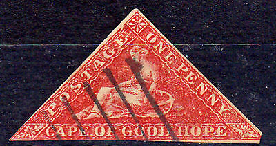 FAKE CAPE OF GOOD HOPE TRIANGLES, 1d RED FORGERY OF PERKINS& BACON AND D.L.R.