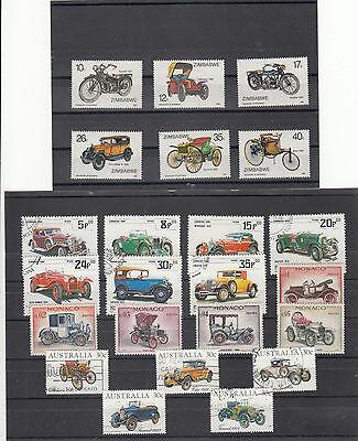 TOPICS. AUTOMOBILE STAMPS vfu and MH.