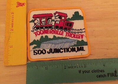 Embroidered Souvenir Patch for Toonerville Trolley Soo Junction, MI