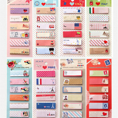 120 Page Cute Sticker Planner Post It Bookmark Marker Memo Sticky Note Notepad