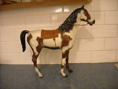 Vintage Marx Best Of The West Storm Cloud Bay Pinto Complete Tack Hackamore Pad