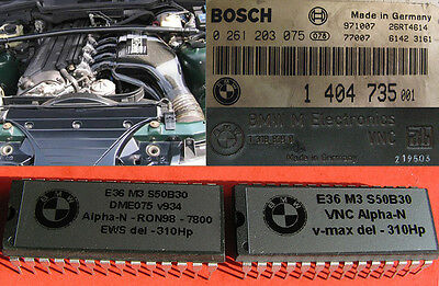 BMW E36 M3 3.0 S50 +24Hp Alpha-n chips for airbox & stock cams, EWS&v-max delete