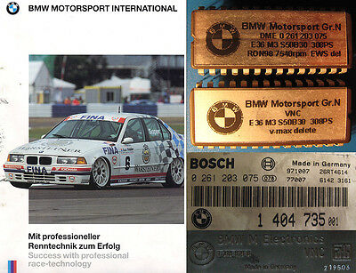 RARE BMW Motorsport E36 M3 S50B30 Group N race car ECU chip set (Gr.N, Gruppe N)