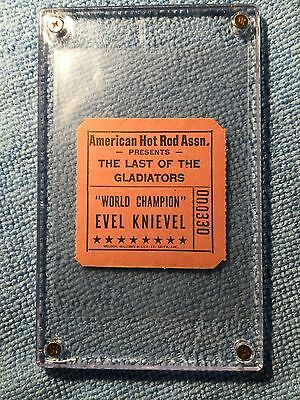 Evel Knievel Unused Jump Ticket 1974 Tulsa Oklahoma