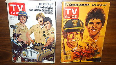 Vintage Two Chips 1979 & 1982 Tv Guides Complete  Larry Wilcox Erik Estrada