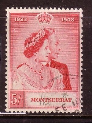 MONSTERRAT....  1949  5s silver wedding used