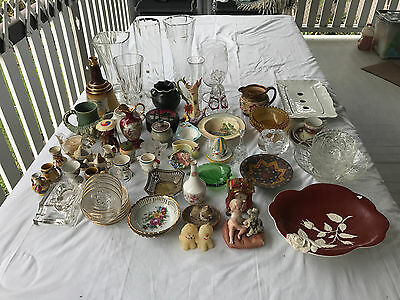 50 pceVintage Crystal.Glass.Pottery.Porcelain.Decorative Collectable Functional