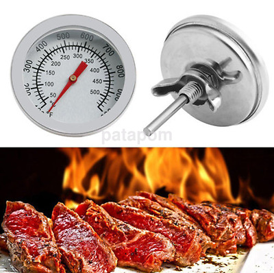 New BBQ Smoker Grill Stainless Steel Thermometer Gauge Temp Barbecue Cook US