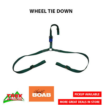 BOAB Car Carrying Ratchet Tiedown, Trailer Tie Down, Car Wheel Harness - OLWTD