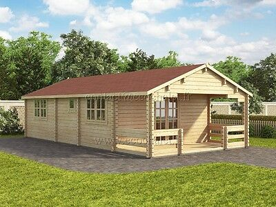 Chalet bois Typ 5x10m; madriers - 68mm