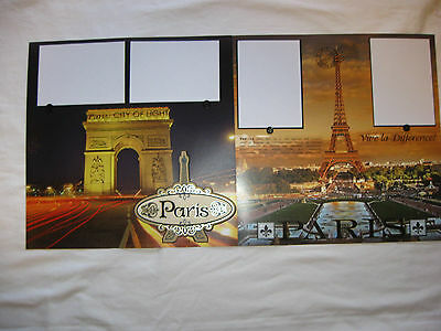 12x12 premade scrapbook pages layout vacation Paris France Eiffel Tower
