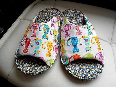 """CHAUSSONS MULES FEMME T40/41 """"chats"""" multi couleurs"""