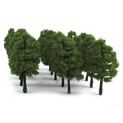 20Pcs Green Trees Model Train Railway Scenery Forest Building Wargame Landscape