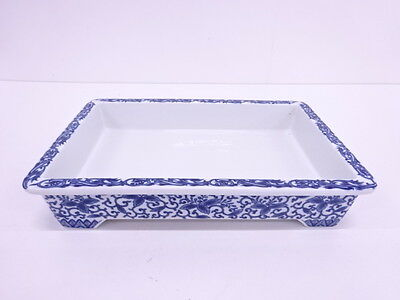3043767: Japanese Blue & White Porcelain / Water Bowl / Suiban / Flower / Arabes