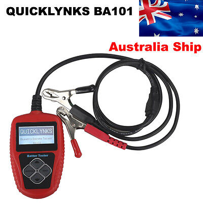 AU Stock QUICKLYNKS BA101 Automotive Battery Tester 12V Vehicle Battery Analyzer