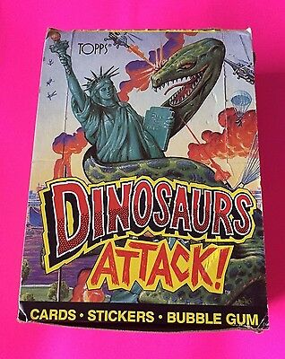 1988 TOPPS DINOSAURS ATTACK! UNOPENED WAX BOX Cards Stickers WITH 48 Packs Rare