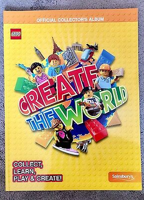 LEGO CREATE THE WORLD Official TRADING CARDS Sainsbury's Collector's Album/Book