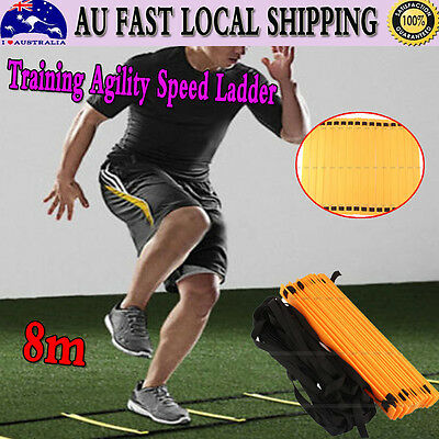 Newest 16 Rung 8M Speed Agility Training Ladder Footwork Soccer Fitness Sporting