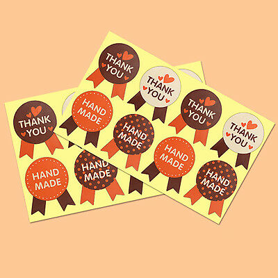 400Pcs Hand made, Thank You Stickers Labels Seal Food Cookie Decal Party Gift