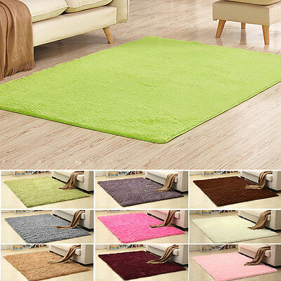 New Extra Large Modern Plain 3cm Thick Shaggy Rugs Cheap Soft Pile Area Rug Mats