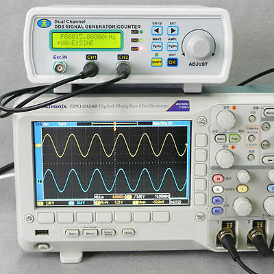 MHS-5200A Digital DDS Dual-channel Signal Generator Source Frequency Meter in UK
