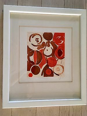 Ernst Wilhelm Nay Lithografie / Etching and aquatint in colours 1965 - Signed