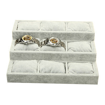 Jewelry Bracelet Bangle Watch Display Box Case Organizer Storage Showcase JE62