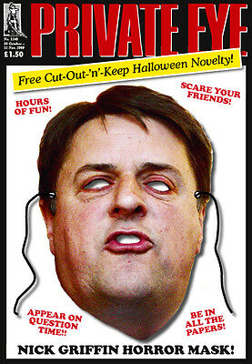 PRIVATE EYE 1248 - 30 Oct - 12 Nov 2009 - Nick Griffin HORROR MASK
