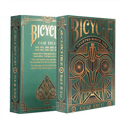 1pcs Bicycle Goat Gold Foil Deck Playing Cards Poker Magic Tricks Magic Props