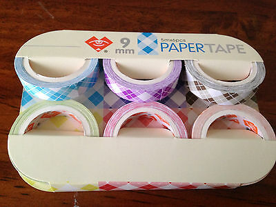 6 Packs Paper Tape 9mm Width 100% Brand New & High Quality