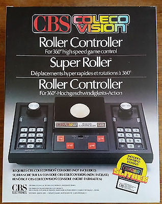 ROLLER controller joystick Track Ball Colecovision Coleco Cbs NEW MINT + Slither