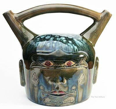 CHRISTOPHER DRESSER Linthorpe Pottery Peruvian Face Vessel c. 1880 Arts & Crafts