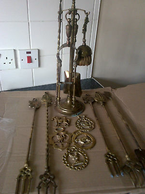 Collection Of Vintage Brass Items