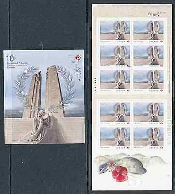 CANADA 2017 WW1 CENTENARY of VIMY RIDGE BKLT of 10 MNH