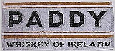"Paddy Whiskey Cotton Bar Towel 20"" x 10"" (pp)"