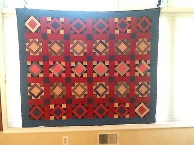 Early Amish Quilt - Handmade in Vibrant Colors - Lancaster County PA