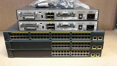 Cisco Ccna Ccnp Lab  Two 1841 256Mb/64Mb  2960-48Tt-L Router Switch Ideal Lab