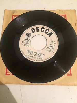 "Rolling Stones Con Le Mie Lacrime / Talkin' about You 7""45 Rpm Ita Juke Box VG+"