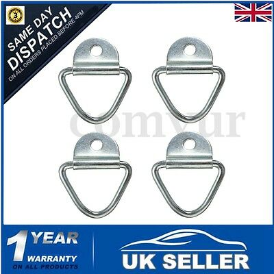 4x 650KG Tie Down Lashing Ring Cleat Zinc Plated Trailer Truck Van Boat Horsebox